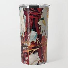 "Robert Delaunay ""Graphic Champs de Mars: The Red Tower"" Travel Mug"