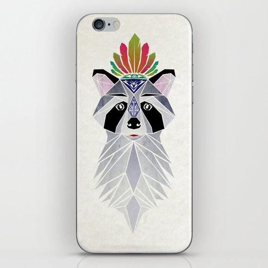 raccoon spirit iPhone & iPod Skin