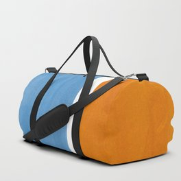 Rothko Minimalist Abstract Mid Century Color Black Square Periwinkle Yellow Ochre Duffle Bag