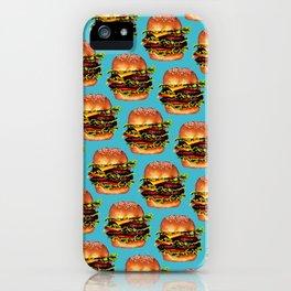 Cheeseburger Pattern iPhone Case