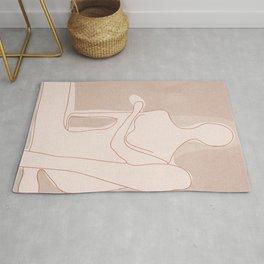 Abstract Woman Figure Rug