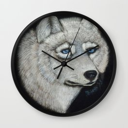 Grey Wolf Collection Wall Clock