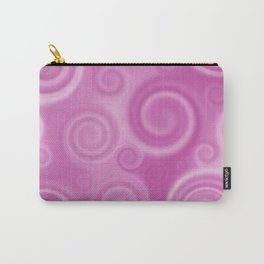 Hypnotic Swirls Bubble Gum Pink Carry-All Pouch