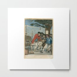 The Bostonians Paying the Excise-Man Metal Print