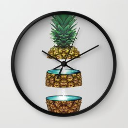 Pineapple Space Wall Clock