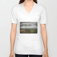 wanderlust V-neck T-shirts featuring Wanderlust by SpaceFrogDesigns