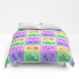 Nintendo Gaming Controllers - Retro Style! Comforters