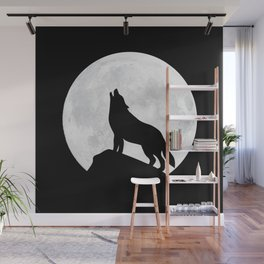 Howling Wolf - Moon Wall Mural