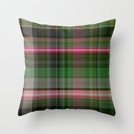 Pink Roses in Anzures 5  Plaid 1 Throw Pillow