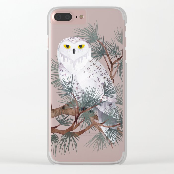 Snowy Clear iPhone Case