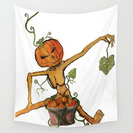 Halloween Head: Primping and Pruning Wall Tapestry