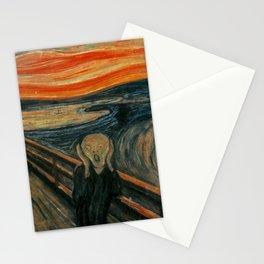 The Scream by Edvard Munch, circa 1893 Stationery Cards