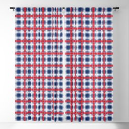 Plaid, red and blue Blackout Curtain