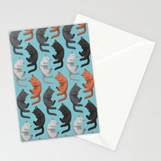 Sleeping Cats Pattern Stationery Cards
