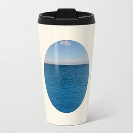 Water & Sky Horizon Round Photo Travel Mug