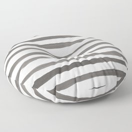 Watercolor Stripes | Black and White | Nautical Floor Pillow