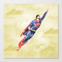 superman Canvas Prints featuring Superman by DanielBergerDesign
