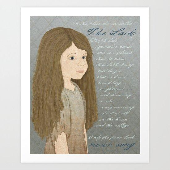 Portrait of Cosette from Les Misérables Art Print
