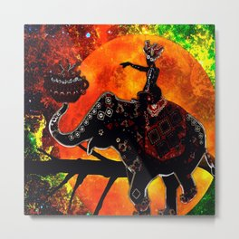 ELEPHANT ADVENTURE Metal Print