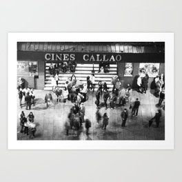 Cines Callao Art Print