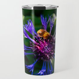Cornflower with bumblebee Travel Mug