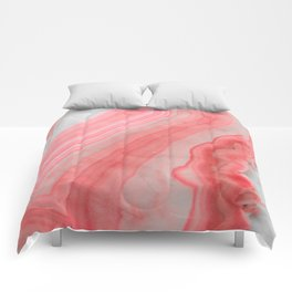 Coral Pink Agate  Comforters