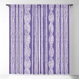 Cable Stripe Violet Blackout Curtain
