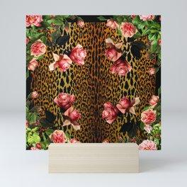 Leopard and Roses Mini Art Print