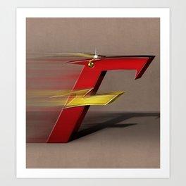 Superbet 'F' Art Print