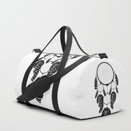 Dream catcher silhouette Duffle Bag