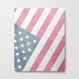 Vintage Stars & Stripes Flag Metal Print