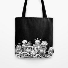 Tiny robots Tote Bag