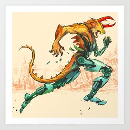 Beast Machine Art Print