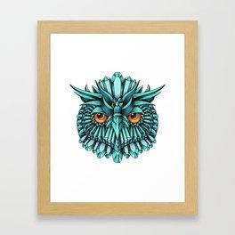 Crystal Owl Blue Framed Art Print
