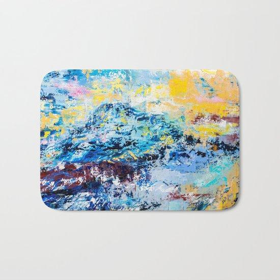 Visionary mountain Bath Mat