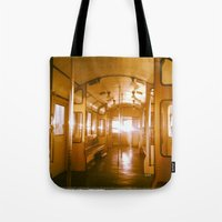 train Tote Bags featuring Train  by Raquel Belloch