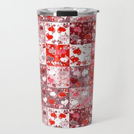 Abstract seamless backgrounds. Patchwork, american countryside style. Travel Mug