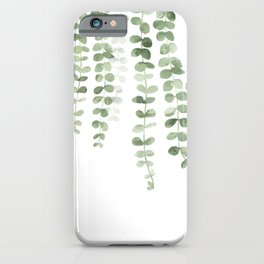 Eucalyptus Watercolor iPhone Case