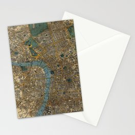 Vintage Map of London England (1860) Stationery Cards