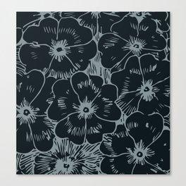 Dark Fall Floral Canvas Print