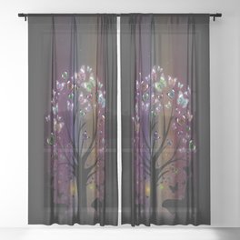 Butterfly Tree Sheer Curtain