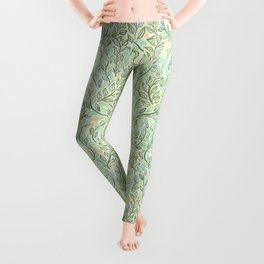 Green and Yellow Leaves Leggings