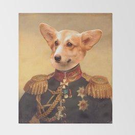 Corgi General Portrait Painting | Corgi Lovers! Throw Blanket