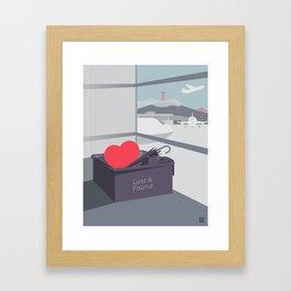 Left my Heart in San Francisco Framed Art Print