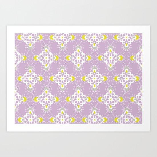 paisley pattern 1 Art Print
