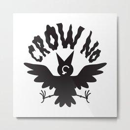 CROW NO Metal Print