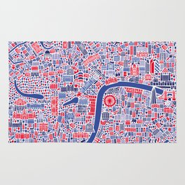London City Map Poster Rug