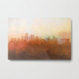 Kansas City, Missouri Skyline - In the Clouds Metal Print