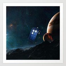tardis doctor who Art Print