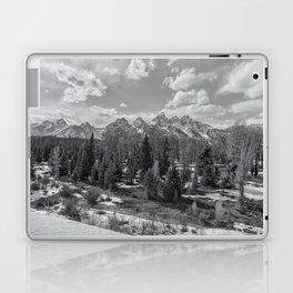Grand Tetons from Schwabacher Road bw Laptop & iPad Skin